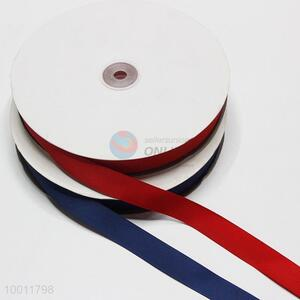 Solid color ployester grosgrain ribbon
