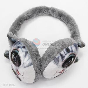 Korean Style Winter Soft Plush Cat Face Animal Earmuff