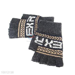 New Unisex Stylish Stripes Warm Mitten Knitting Fingerless Gloves