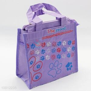 Wholesale Oxford Fabric Purple Large Capacity Lunch Box Bag
