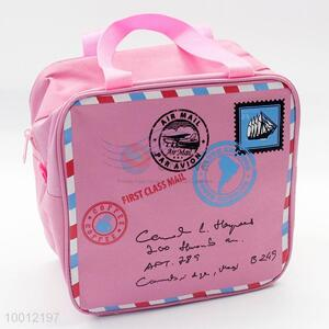New Design Pink Folding Picnic Insulated Cooler Bag Lunchbox Package