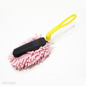 Wholesale Small Size Pink Chenille Fiber Car Cleaning Brush