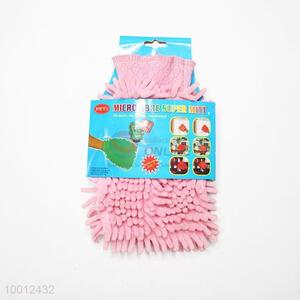 Wholesale Pink Chenille Spong Cleaning Gloves