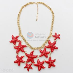 Red sea star necklace