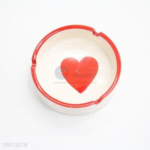 Wholesale Round Heart Windproof Iron Ashtray