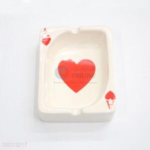 Wholesale Poker Shaped Windproof Iron Ashtray