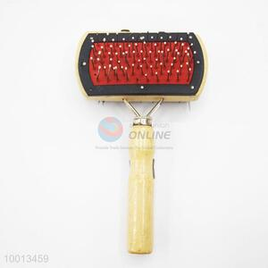 Wholesale Stainless Steel Dematting Pet Grooming Comb with Wood Handle
