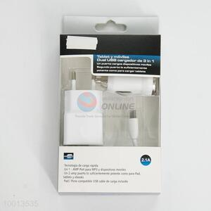 2.1A 3 In 1 USB Cargador