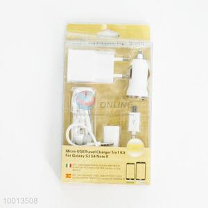 Micro USB Travel Charger 5in 1 Kit For Galaxy S3,S4,Note II