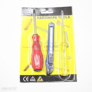 3pcs Hardware Tools Set of Screwdriver,Art Knife and Electric Pen
