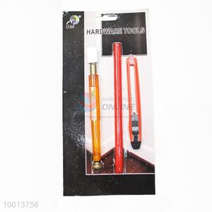 3pcs Hardware Tools Set of Glass Knife,Carpenter Pencil and Small Art Knife