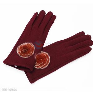 Women Telefingers Gloves With Ball