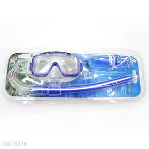 Wholesale Dark Blue Swimming Snorkel With Mask For Diving