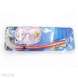 Wholesale Pink&Red Swimming Snorkel With Mask For Diving