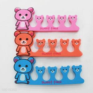 1pc Cute Bear Soft Sponge Foam Finger Toe Separator Nail Tools