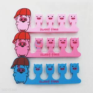 1pc Cute Pig Soft Sponge Foam Finger Toe Separator Nail Tools