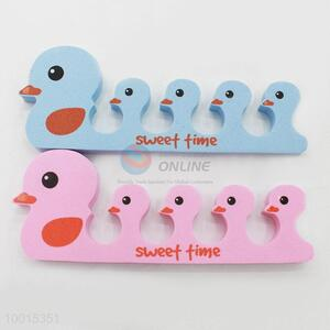 1pc Cute Duck Soft Sponge Foam Finger Toe Separator Nail Tools