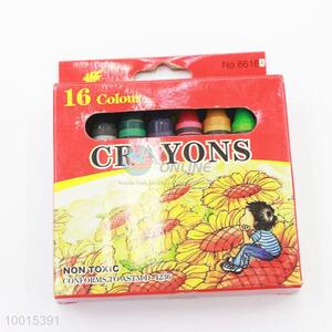 Wholesale 16 Colors Thick Wax Crayons