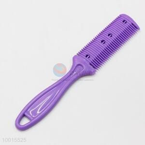 Purple Plastic Hair Comb Knife Tools