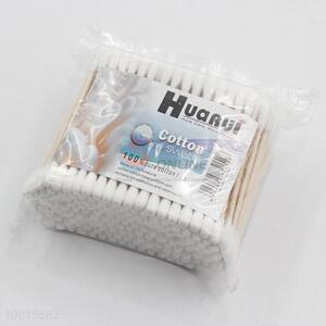 Soft 200pcs wood stick cotton swabs
