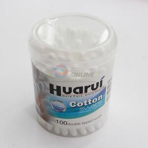 100pcs ear plastic cotton swabs
