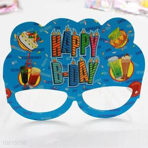 Blue Cartoon Pattern Paper Eyewear 12pcs/bag Birthday Party Decoration
