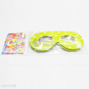 Star Printed Green Paper Eyewear 12pcs/bag Happy Birthday Decoration