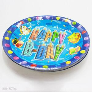 Wholesale 10pcs/bag Blue Paper Dish for Birthday Festive Party