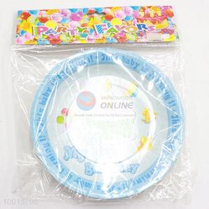 10pcs/bag Blue Paper Dish for Birthday Festive Party Decoration