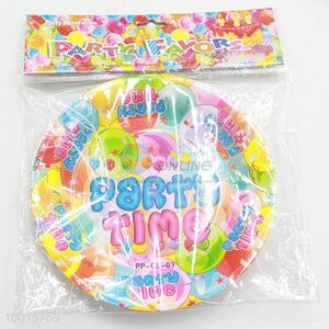 Happy Party 10pcs/1Bag 7 Cun Paper Dish for Birthday Party Supplies