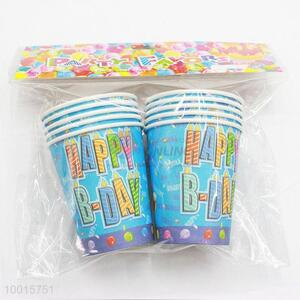 Blue Paper Cups for Birthday Festive Party 10pcs/bag