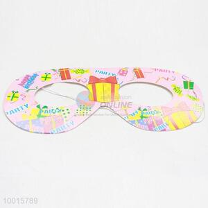 Pink Cartoon Pattern Paper Eyewear 12pcs/bag Happy Birthday Decoration