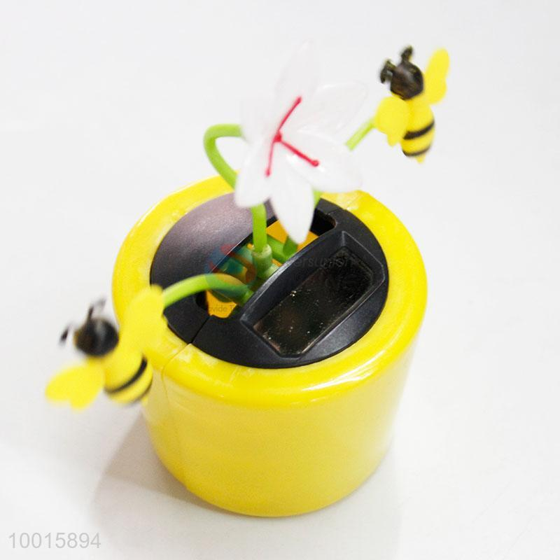 7a62e168fece3 Solar Powered Dancing Flower with Yellow Bees Toys for Car Decoration -  Sellersunion Online