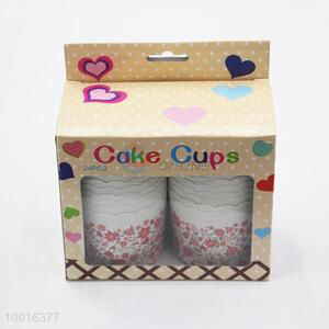 Hot Selling New Design 24 Pieces Muffin Cupcake Baking Cups Per Paper Box