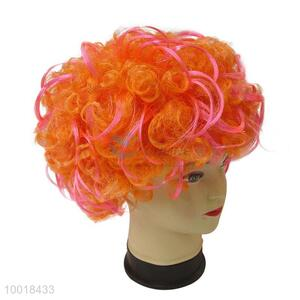 Wholesale Party Wig /Orange Short Curly Hair