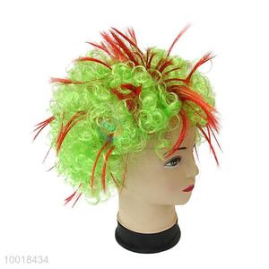 Green Party Wig /Orange Short Curly Hair For Crazy Party