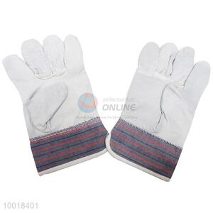 Stripes + cowhide Working Safety Gloves