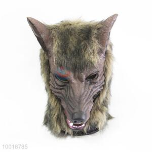 Wholesale Brown Wolf Head Soft Full Mask for Halloween