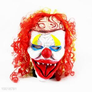 Ugly Clown with Red Curly Hair Full Mask