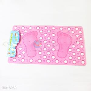 Footprint Anti Slip Bath Mat With Round Holes