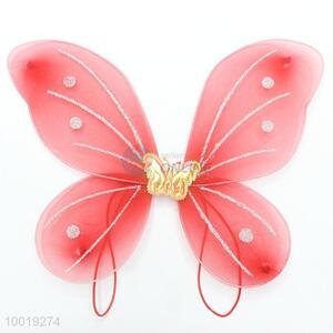 30*38CM Small Red Butterfly for Children, Liking A Schoolbag