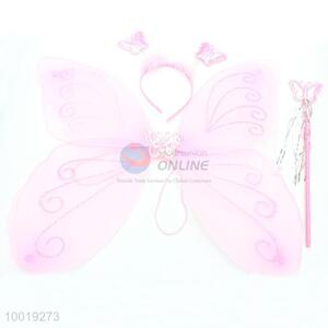 Pink Three-piece Suit--Pen, Headband, Butterfly,  for Children, Liking A Schoolbag