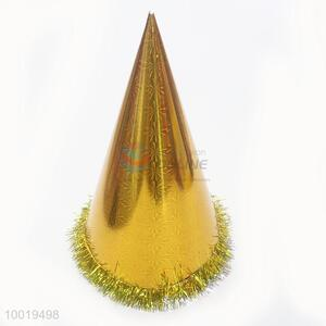 Golden Color Funny Party Paper Hat For Christmas