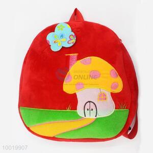 New Fashion High Quality Mushroom House Red Plush Child Shoulders Bag