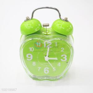 Green Apple Shaped Alarm Clock Used to Bedroom