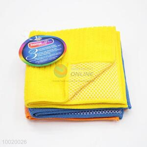 High Quality Microfiber Dish Cloth With Mesh Set