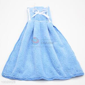 Baby Blue High Quality Cleaning Towel with Bowknot