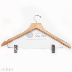 Top Grade Wholesale Wood Hangers with Clips For Laundry