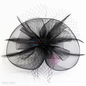 Black Lace Feather Flower Mesh Decoration Hair Accessories