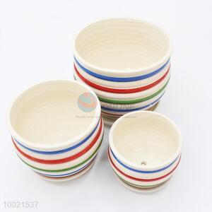 3pcs rainbow color ceramics garden flower pot set